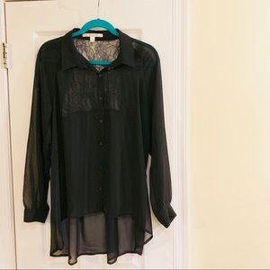 Lauren Conrad Black Blouse